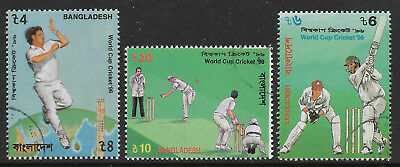 BANGLADESH 1996 CRICKET WORLD CUP 3v CTO USED (No.1)