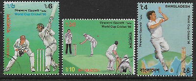 BANGLADESH 1996 CRICKET WORLD CUP 3v CTO USED (No.2)