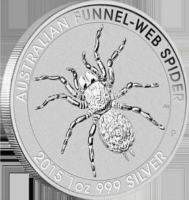 1oz 2015 Perth Mint Funnel Web Minted Coin .999 Silver