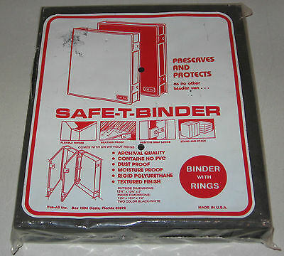 Safe-T-Binder - Archival Quality Binder With Rings - New Old Stock