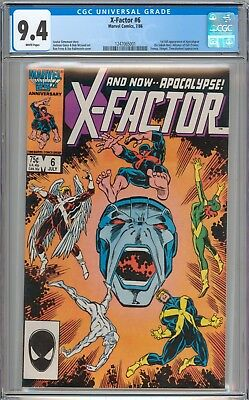 X-Factor #6 CGC 9.4 NM 1st Appearance of Apocalypse WHITE Pages New Case
