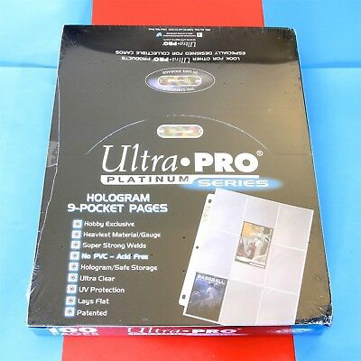 Ultra Pro Platinum 9-Pocket Trading Card Pages - Box of 100 - Factory Sealed!