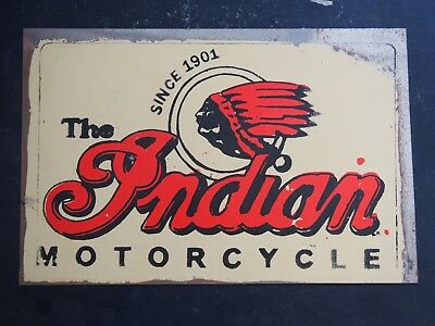 Retro Tin Sign - The Indian Motorcycle, Since 1901 - 30 x 20cm