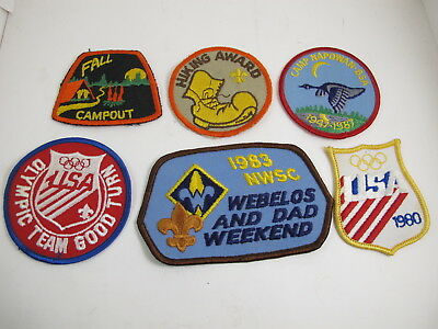 Vintage Souvenir Embroidered PATCHES Lot of 6 Boy Scouts BSA (A4)