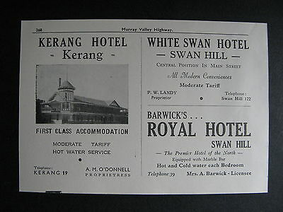 Kerang Hotel A M O'Donnell  Prop White Swan Hotel Barwick' Royal Hotel