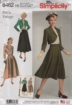 Simplicity Sewing Pattern 8462 Misses Vintage Blouse Skirt Bolero Size 6-14