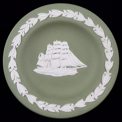 "Coupelle ""Cutty Sark Scots Whisky's"" Porcelaine WEDGWOOD Ancien vert/green/boat"