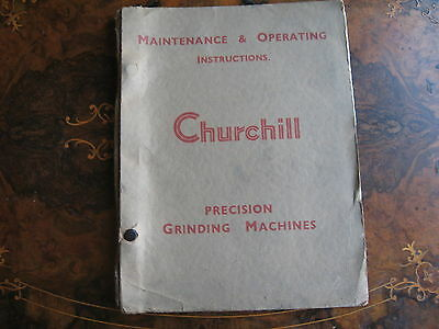 Churchill Internal Grinding Machine HCY Maintence & Operating Instructions