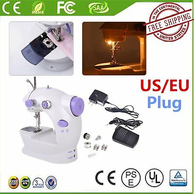 Portable Desktop Mini Electric Sewing Machine Hand Held Household Home Tailor@*