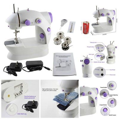 Portable Mini Handheld Electric Sewing Machine Desktop Home Household Sewing@*