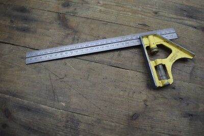 Stanley Combination 300mm Adjustable Square Carpenters Woodworking Old Tool