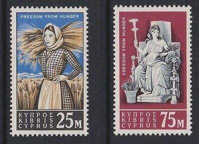 CYPRUS 1963 Freedom from hunger MINT set sg227-228