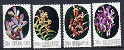 Singapore 1976 Orchids set  fine fresh MNH