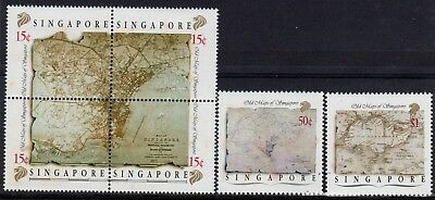 Singapore 1989 Maps set  fine fresh MNH