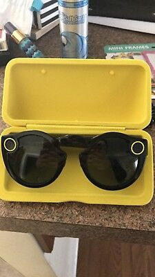 Used Once Spectacles Snap Smart Phone Camera Glasses for Snapchat Black