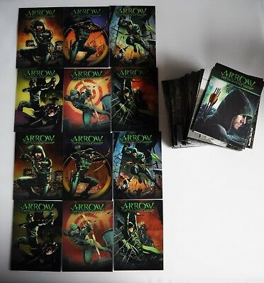 Marvel Arrow Season 1 Base Set With Covers And Chrome Chase Sets