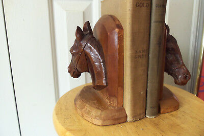 Vintage Horse Head Bookends ( pair )