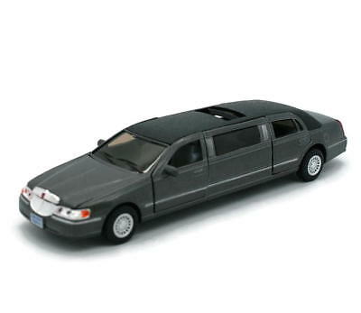 1999 Lincoln Town Car Stretch Limousine KINSMART Diecast 1:38 Grey FREE SHIPPING