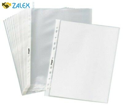 """400 Sleeves Clear Plastic Sheet Page Protectors ACID Free 8.5x11"""" Non Glare New"""