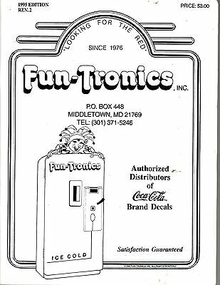 1995 Fun-Tronics Vending Machine Part Catalog/manual-Coca Cola Brand Distributor