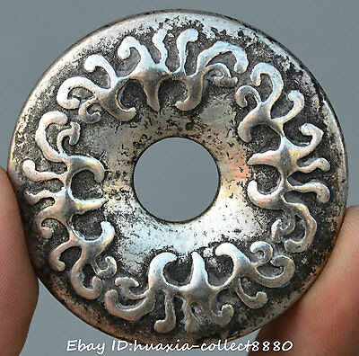 Collect China Old Miao silver ancient shoe-shaped gold ingot flower numismatics