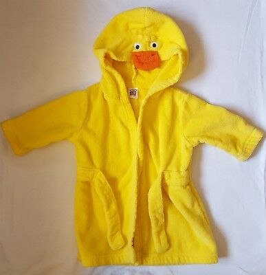 Carter's Baby Boy/Girl Duck Robe Yellow Size 0-9 Months Terrycloth Front Tie EUC