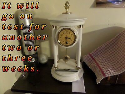 "Restored And Serviced German Hac ""bandstand"" Mantel Clock  79 Photos Of The Work"