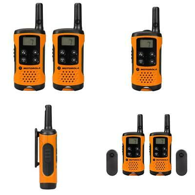2 X Motorola Tlkr T41 2 Way Walkie Talkie Set Pmr 446 Radio Kit Orange Pack of 2