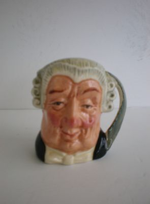 "Royal Doulton Character Jug ""The Lawyer"" Mini Vintage D 6524 Limited 1958 Edit"