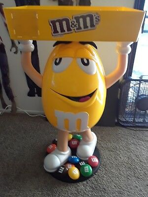m&m's Yellow Peanut Character Display   Dispenser 4ft tall NICE! No shipping