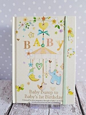 Gorgeous From BABY BUMP to BABY'S 1st YEAR Journal Memory Keepsake Record Book