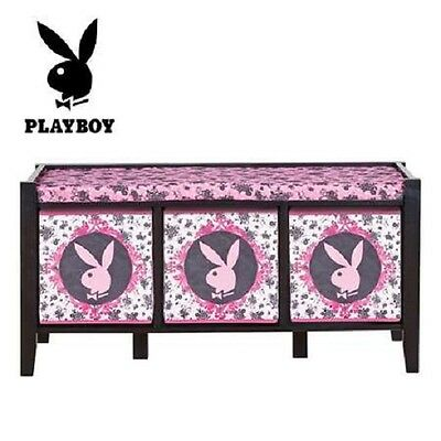 Playboy Bunny Love  Storage Bench ~~~ Home Bedroom Decor ~~ Rrp: $160