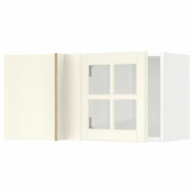 Corner Wall Cabinet With Glass Door Whitebodbyn Off White 88 X 37