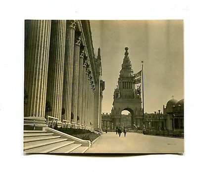 Vintage Candid Photograph PPIE PANAMA PACIFIC EXPO 1915 COURT OF HONOR JEWEL