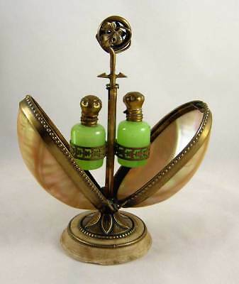 Antique French Gilt Bronze & Mother of Pearl Perfume Casket c1850-1870