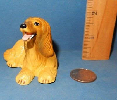 Lovely New Ray  Afghan Hound Dog Breed Figurine Figure Soft Rubber