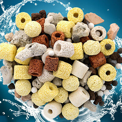 50/400g Fish Tank Aquarium Filter Media Biochemical Ring Stone Filter Material