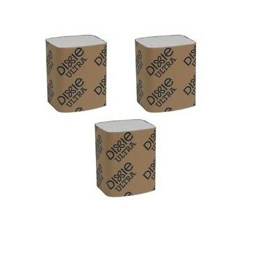 3-pack (750 napkins) Dixie Ultra Interfold 2-Ply Napkin Dispenser Refill EasyNap