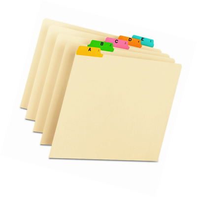 Smead 50180 Recycled Top Tab File Guides, Alpha, 1/5 Tab, Manila, Letter (Set of