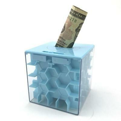 Money Maze Box Money Honeycomb Maze Bank Coin Cash Bill Storage JJ