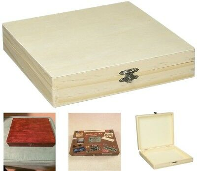 Wooden Unfinished Cigar Box Cigars Sanded Smooth Pine Wood Tobacciana Storage