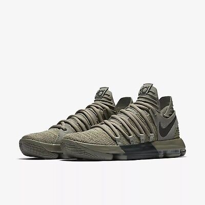 6ad55a68e07 Men s Nike Zoom KD 10 LMTD Basketball Shoes Dark Stucco Anthracite  897817-002