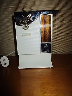 Retro Vintage Electric can opener with knife sharpener General Electric GE  #D