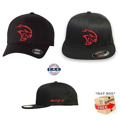 HELLCAT DODGE  FLEXFIT HAT CURVED or FLAT BILL *FREE SHIPPING in BOX*