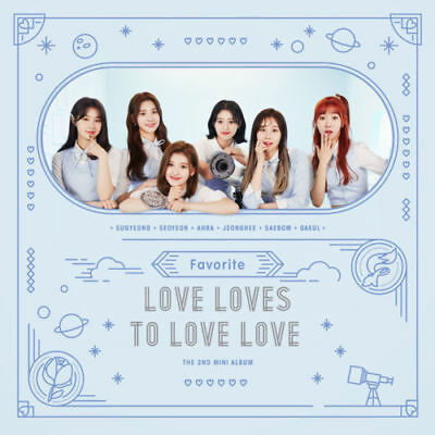 FAVORITE [LOVE LOVES TO LOVE LOVE] 2nd Mini Album CD+Photo Book+2p Card SEALED