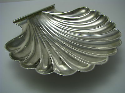 STERLING SILVER SHELL BUTTER DISH w/PEARLS BOWL PLATE Black Starr & Frost c1900s