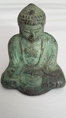 Beautiful cast metal Japanese Buddha with great looking patina.