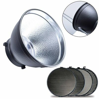 "7"" Studio Standard Reflector + 17cm Honeycomb Grid Kit for Bowens Studio Flash"