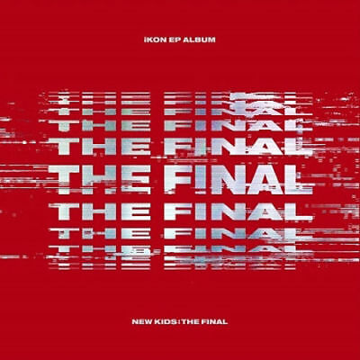 IKON [NEW KIDS:THE FINAL] EP Album RED CD+2p POSTER+Photo Book+P.Card+Sticker