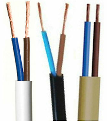 0.5MM 2 Core 2192Y Flat Table Lamp Flex Cable Gold Brass 3AMP Lighting cable